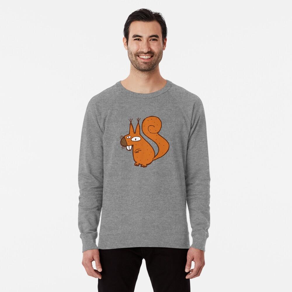 Cute cartoon squirrel Lightweight Sweatshirt