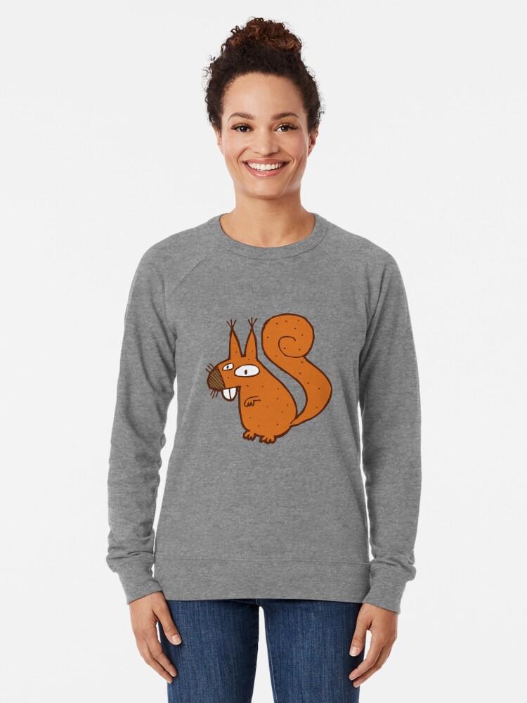 Alternate view of Cute cartoon squirrel Lightweight Sweatshirt