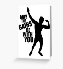 Zyzz May the Gains be with you Greeting Card