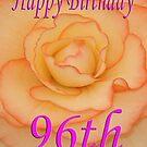 Happy 96th Birthday Flower by martinspixs
