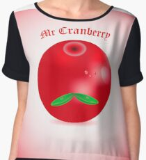 Cranberry Chiffon Top