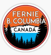 FERNIE BRITISH COLUMBIA CANADA SKIING MOUNTAINS SNOWBOARDING SKI SNOWBOARD 2 Sticker