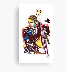 Jazz Bass player Canvas Print