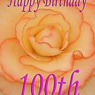 Happy 100th Birthday Flower by martinspixs