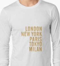 Cities on Grey Long Sleeve T-Shirt