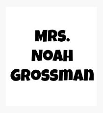 Mrs. Noah Grossman Photographic Print