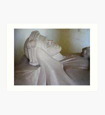 T E Lawrence: his effigy. Art Print