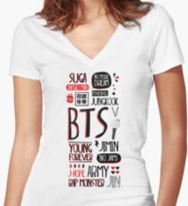 BTS ARMY Women's Fitted V-Neck T-Shirt