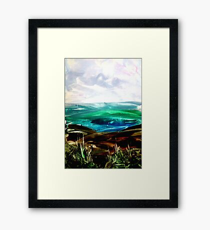 Ironed landscape Framed Print