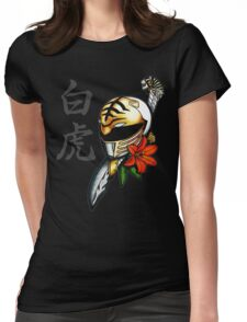 Neo-Traditional White Ranger Womens Fitted T-Shirt