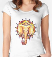 Elephant Mandala Women's Fitted Scoop T-Shirt