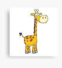 Cute cartoon giraffe smiling Canvas Print