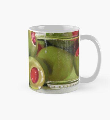Staged Olives pastel painting Mug