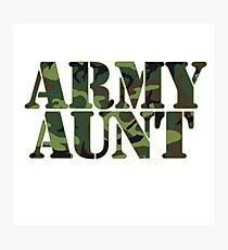 Army AUNT Photographic Print