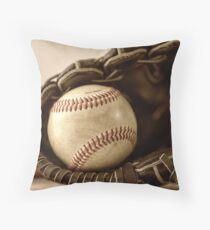 Baseball. Handschuh und Ball Dekokissen