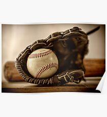Baseball. Glove and ball Poster