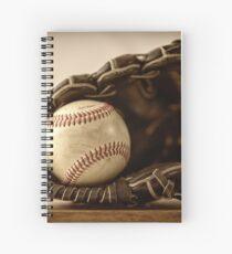 Baseball. Glove and ball Spiral Notebook