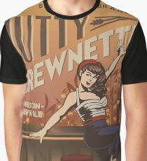 The Nutty Brewnette, American Brown Ale Graphic T-Shirt
