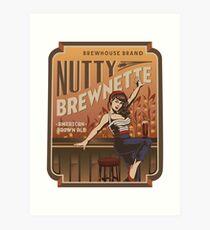 The Nutty Brewnette, American Brown Ale Art Print