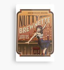 Die nussige Brewnette, amerikanisches Brown-Ale Metallbild