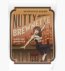 The Nutty Brewnette, American Brown Ale Poster