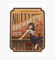 The Nutty Brewnette, American Brown Ale Photographic Print