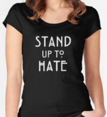 Stand Up To Hate and Racism  Women's Fitted Scoop T-Shirt
