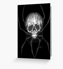 Spider Skull Greeting Card