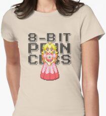Peach - 8-Bit Princess Women's Fitted T-Shirt
