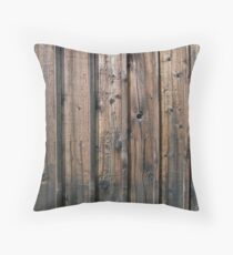 Rustic Wood Barn Throw Pillow