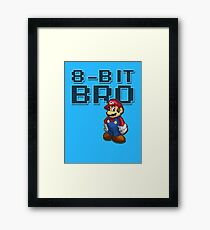 Mario - 8-Bit Bro Framed Print