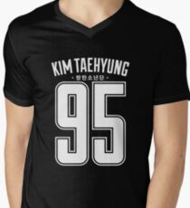BTS V KIM TAEHYUNG 95 Men's V-Neck T-Shirt
