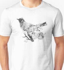 Bird Wanderlust Black and White Unisex T-Shirt