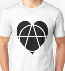Black Anarchist Heart T-Shirt