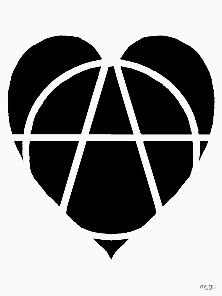 Black Anarchist Heart Unisex T Shirt By Mygu Redbubble
