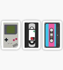 Gameboy, Cassette, and VHS Classic (black) Sticker