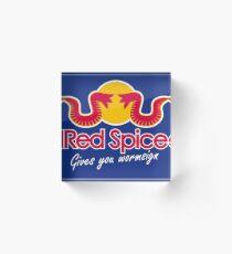 Red Spice Acrylic Block