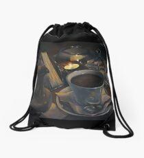 Still life with coffee Drawstring Bag