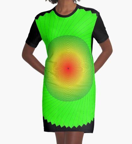 Processing Rainbow Spiral 002 Graphic T-Shirt Dress