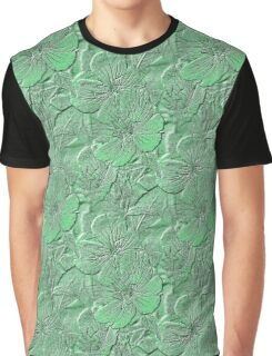 Green Daisy Flowers Pattern Graphic T-Shirt