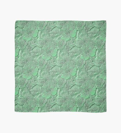 Green Daisy Flowers Pattern Scarf