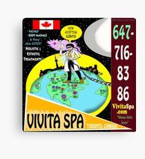 Vivita Spa, Toronto, Ontario, Canada Poster Artwork Canvas Print