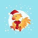 Christmas Chocobo by dennydraws