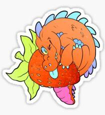 Strawberry Gator Sticker