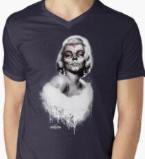 Marilyn Muerte T-Shirt mit V-Ausschnitt für Männer