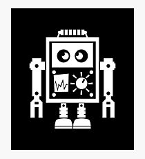 Cute Robot 2 White Photographic Print