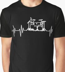 DRUMS HEARTBEAT  Graphic T-Shirt