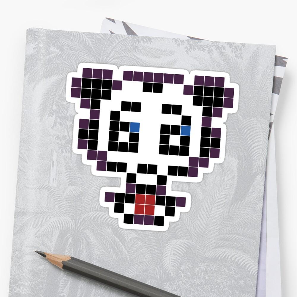 Panda Pixel Art Stickers By Greatson Redbubble