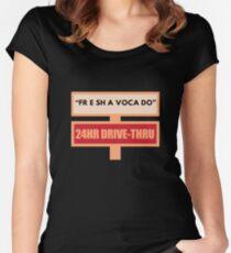 Free Fre Shavacado Fresh Avacado Women's Fitted Scoop T-Shirt