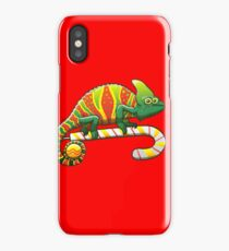 Christmas Chameleon iPhone Case